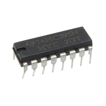 25pcs SN74HC595N 74HC595 74HC595N HC595 DIP-16 8 Bit Shift Register IC